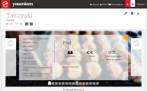 La page de présentation Youmiam de mes Takoyaki, splendide !