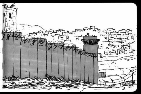 Croquis du mur par G. Delisle